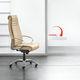 fauteuil de direction contemporain / en cuir / en métal / à roulettes