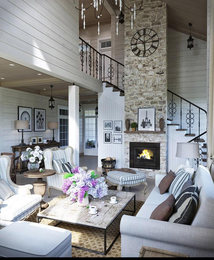 2 Conceptions D'appartement De Style De Provence Avec Des Plans D'étage