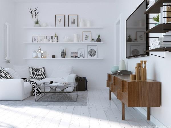 3 beaux intérieurs scandinaves de modèle