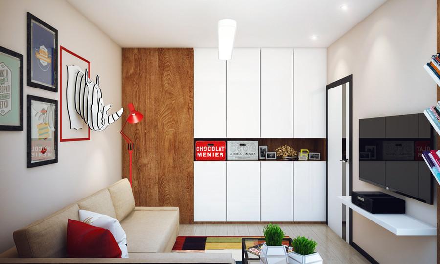 Lappartement De Chambre à Coucher Du Minimaliste A Conçu Pour Un - Chambre pour homme design