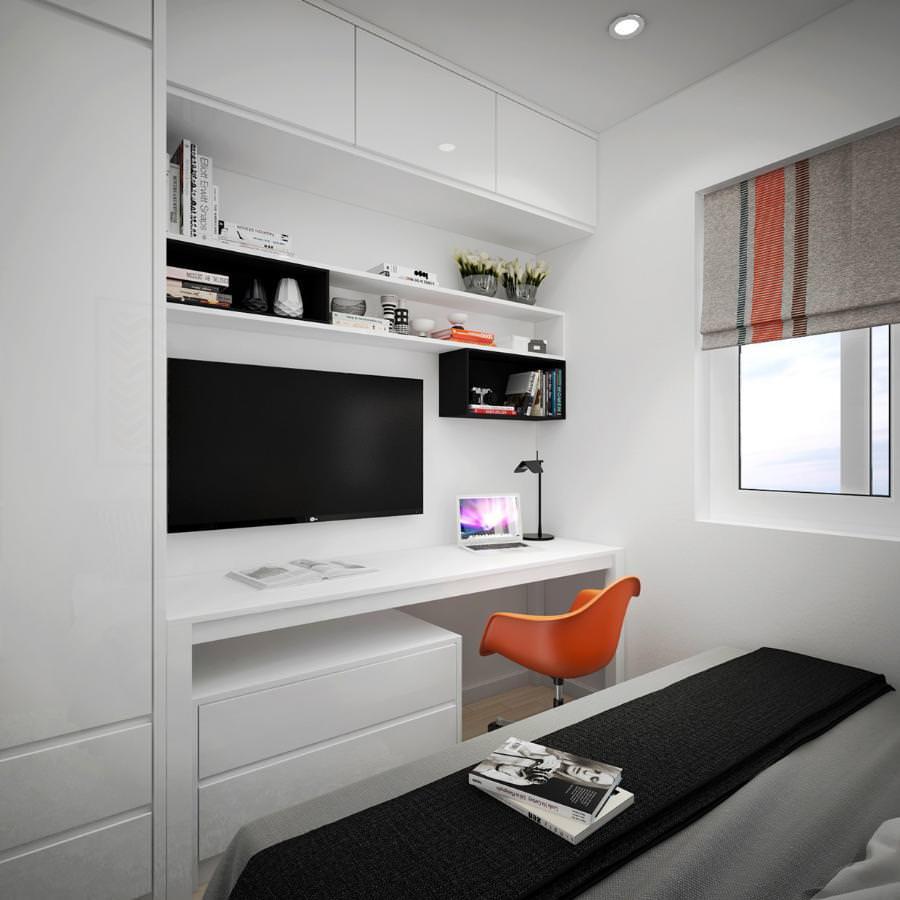 Appartement scandinave avec l'art adorable et les couleurs ...