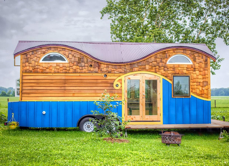 Caravane En Bois #2: La Caravane En Bois étonnante De Pequod Adapte Confortablement Une Famille  De Quatre
