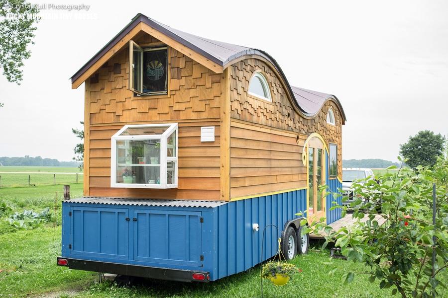 Attrayant Caravane En Bois #5: La Caravane En Bois étonnante De Pequod Adapte Confortablement Une Famille  De Quatre