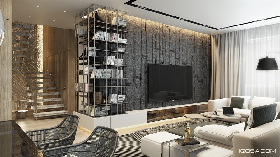Conceptions de texture de mur pour la salle de séjour : Idées et ...