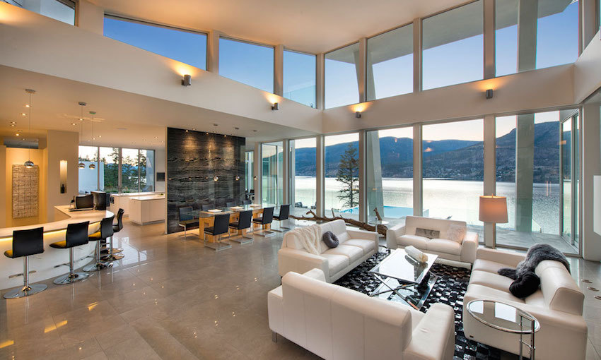 Chambre ultramoderne de lac avec les détails luxueux - Canada