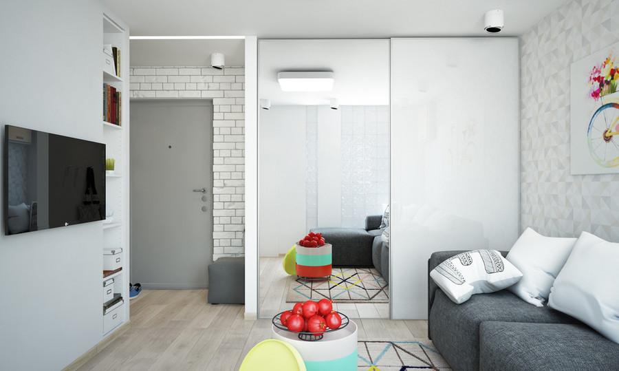 Appartement 1 Chambre Lumineux Et Compact Pour Le Plan D'étage De La Jeune Famille Inclus