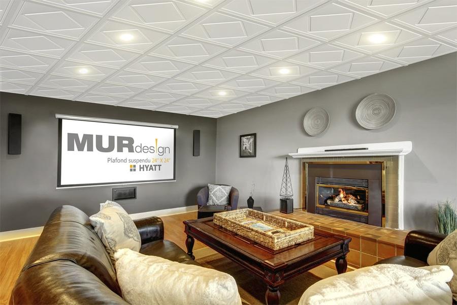 Connu NOUVEAUTÉ : faux-plafond décoratif by MUR design - MUR design GP08