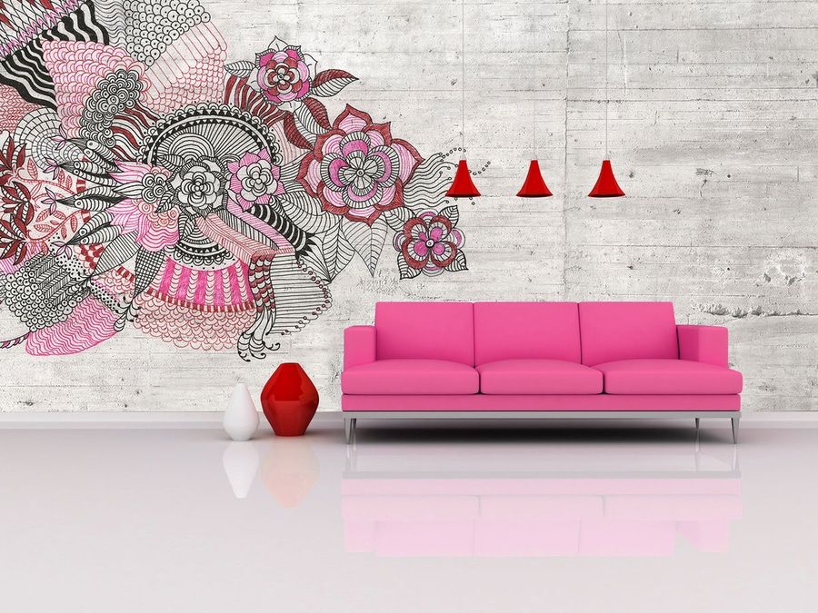 Nouveauté : Papier Peint Motif Floral By In Création - In Création