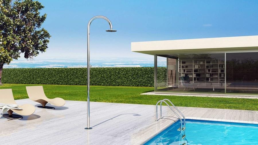 sole 48 m beauty - douche nautique d'extérieur, pour piscine ou