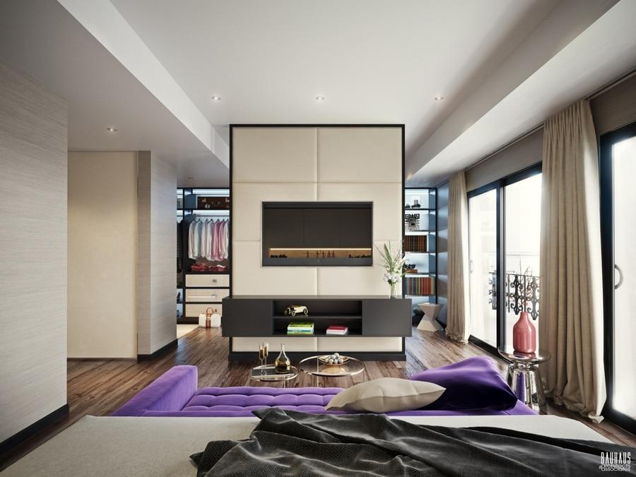Six belles chambres à coucher avec les éléments mous et accueillants de conception
