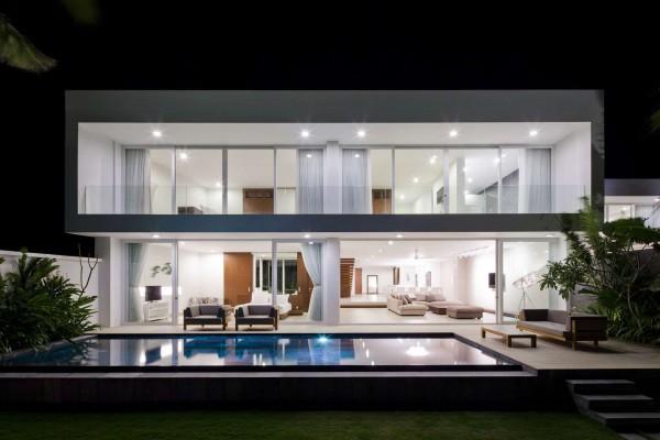 Les Villas De Plage Privées Offrent Des Vues Spectaculaires Sur L'océan Et Des Intérieurs Luxueux