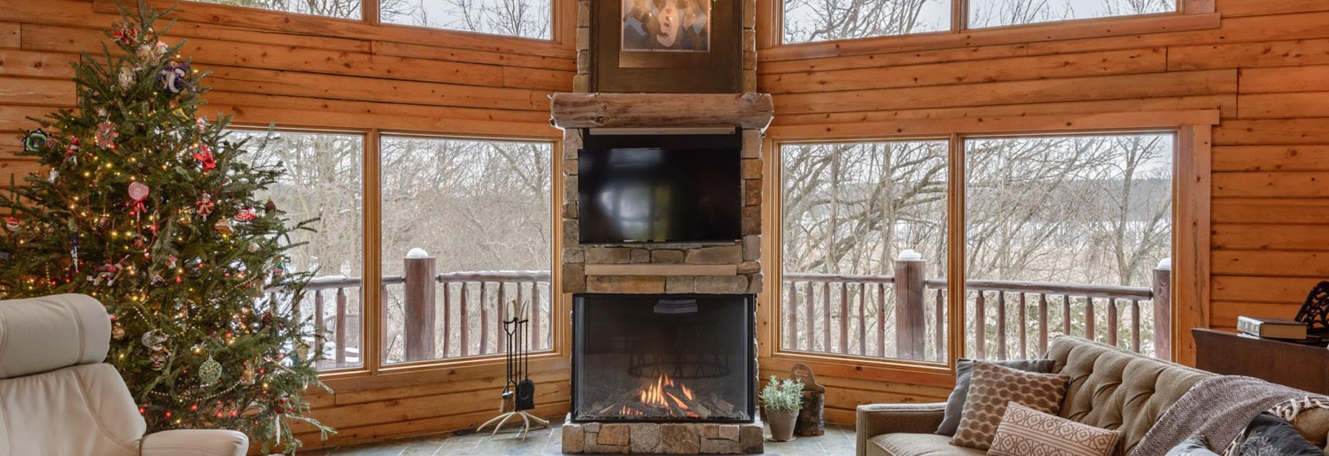 La cabine de rondin de Northwoods accueille un Trisore 100H par Element4