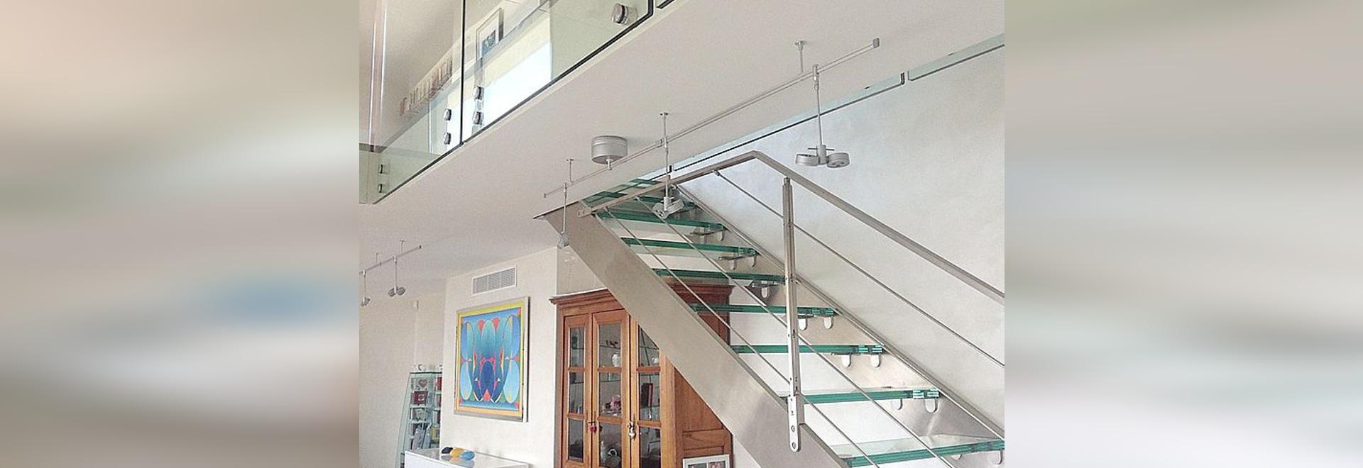 Escalier Elite inox et verre et garde-corps verre Glassy ...