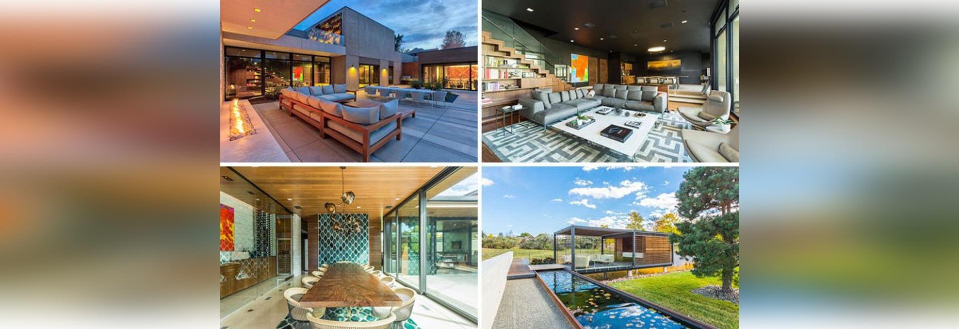 Il y a les espaces vitaux multiples à l'intérieur de cette maison suburbaine informe dans le Colorado