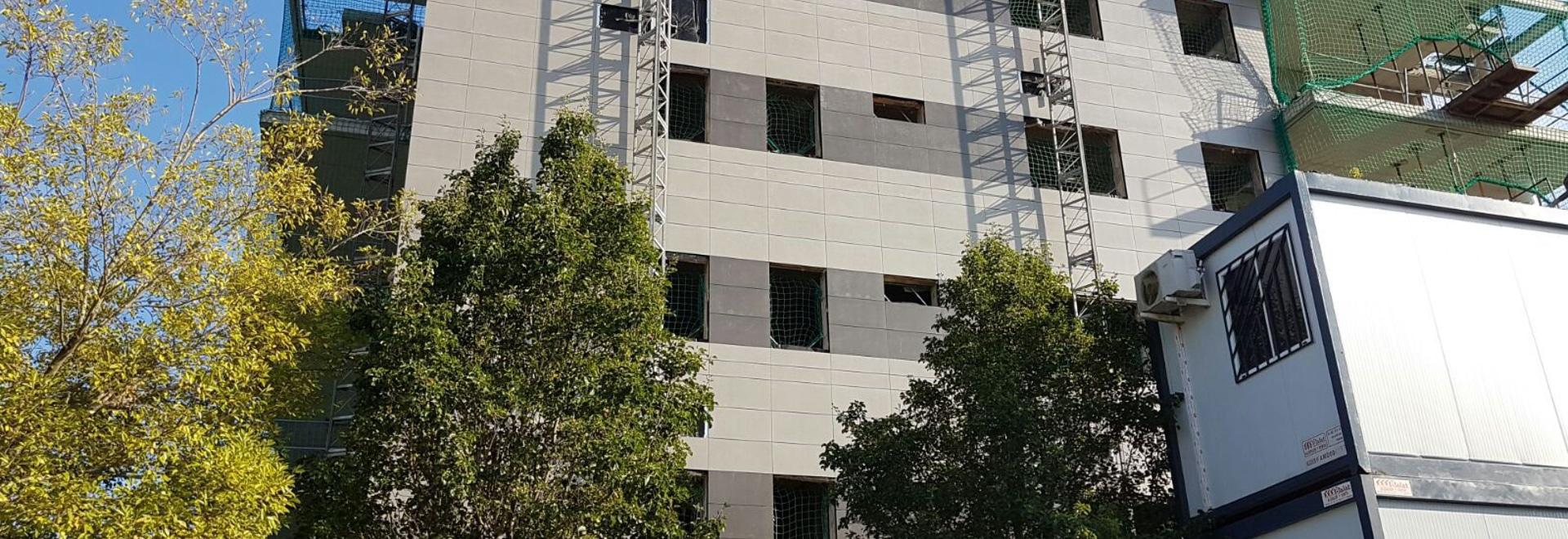 Immeuble avec les façades exhalées, nouveau projet de Sistema Masa