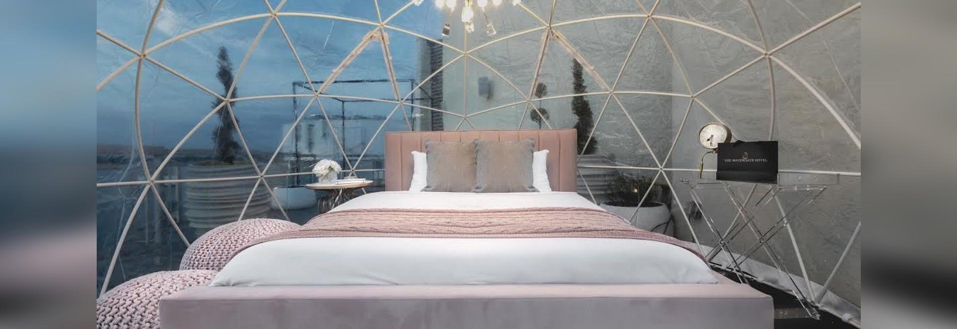 Maintenant, vous pouvez glamper dans un dôme sur le toit de l'hôtel Watergate