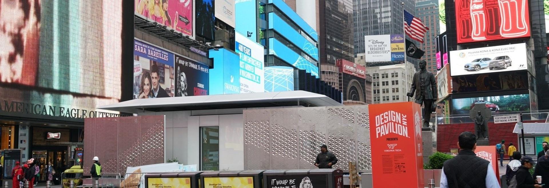 Une maison LEGO comme une maison alimentée entièrement par le soleil fait son apparition à Times Square