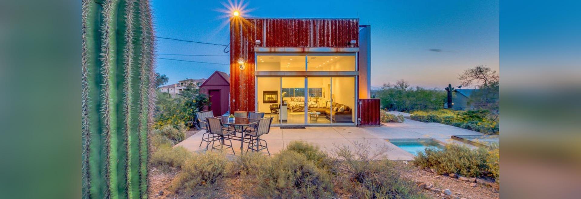 La maison moderne minuscule de cube revendique des vues ...