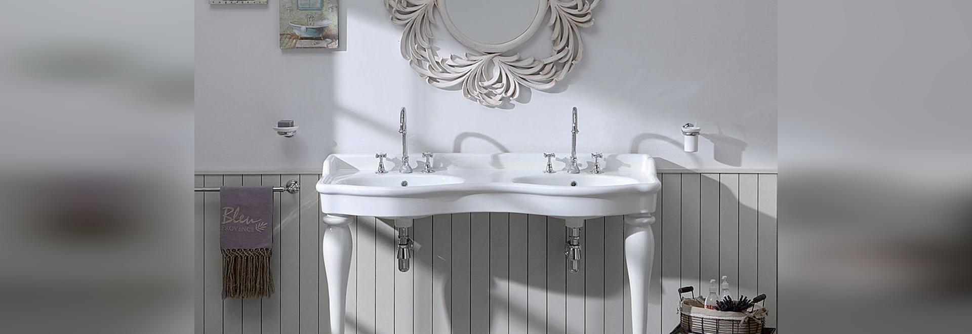 nouveau lavabo double par le spécialiste de la salle de bain rétro ... - Lavabo Retro Salle De Bain