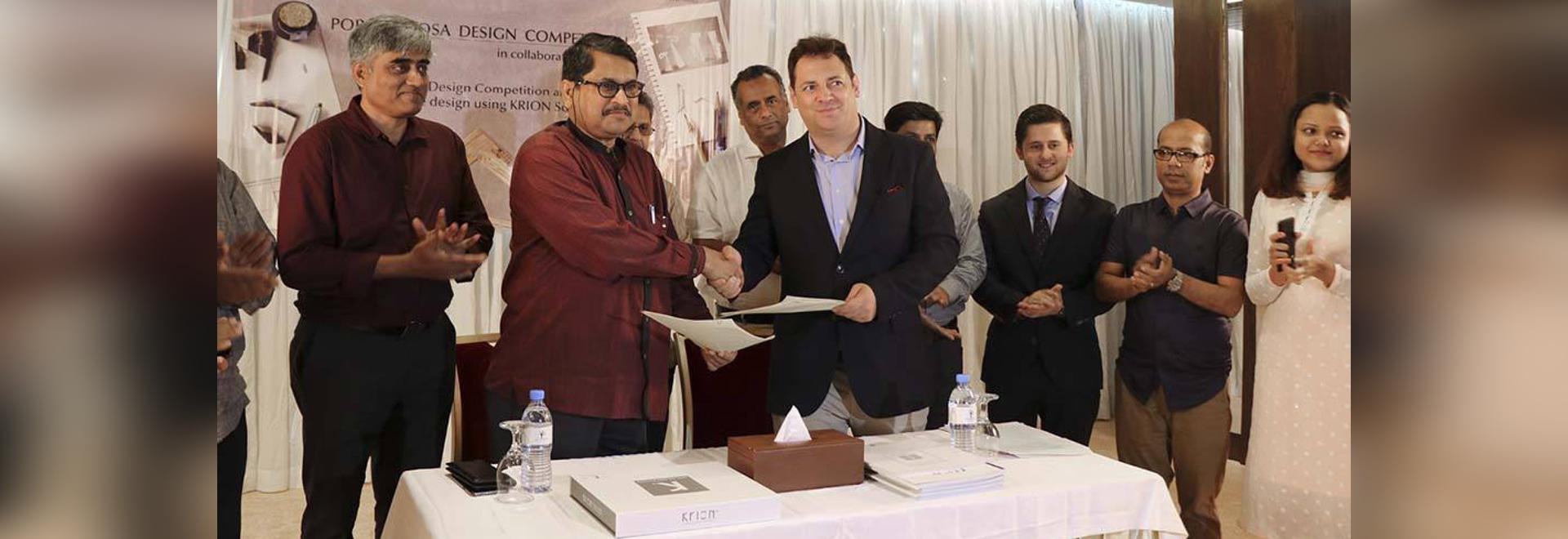 """Nupami BD et Institue of Architects Bangladesh (IAB) signent un accord pour organiser le concours """"KRION Porcelanosa Design Competition"""""""
