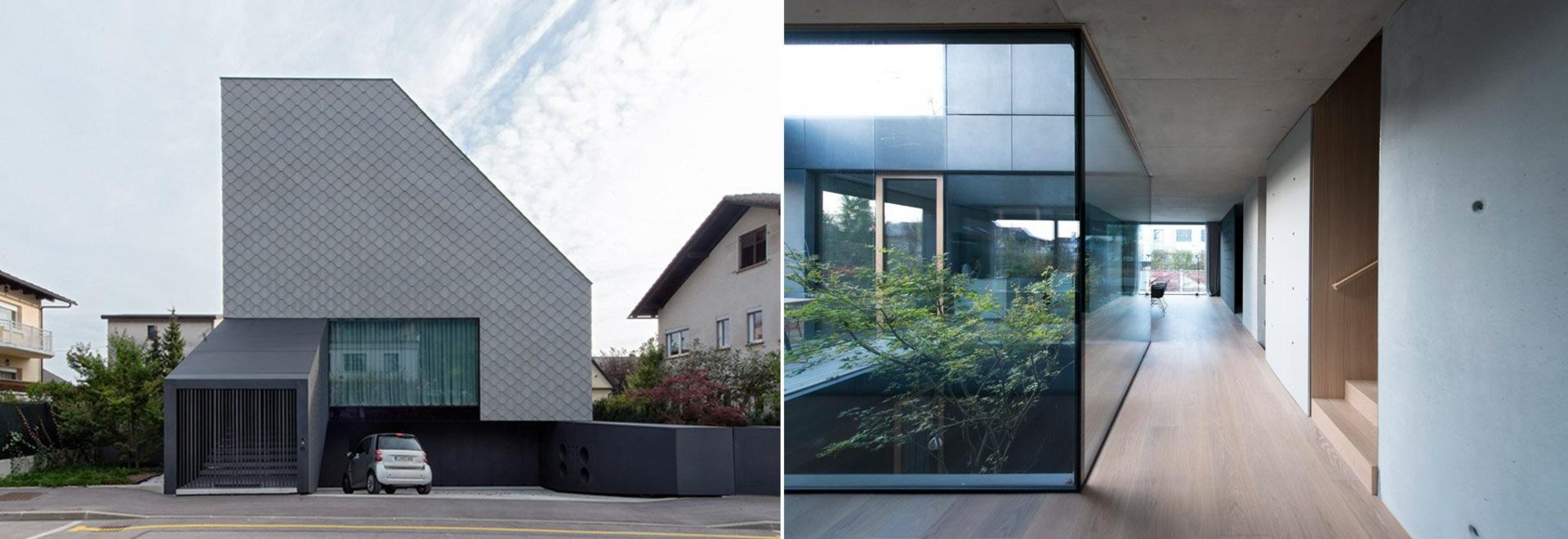 """OFIS insère une oreillette vitrée interne au coeur du """"portique de maison"""" à Ljubljana"""