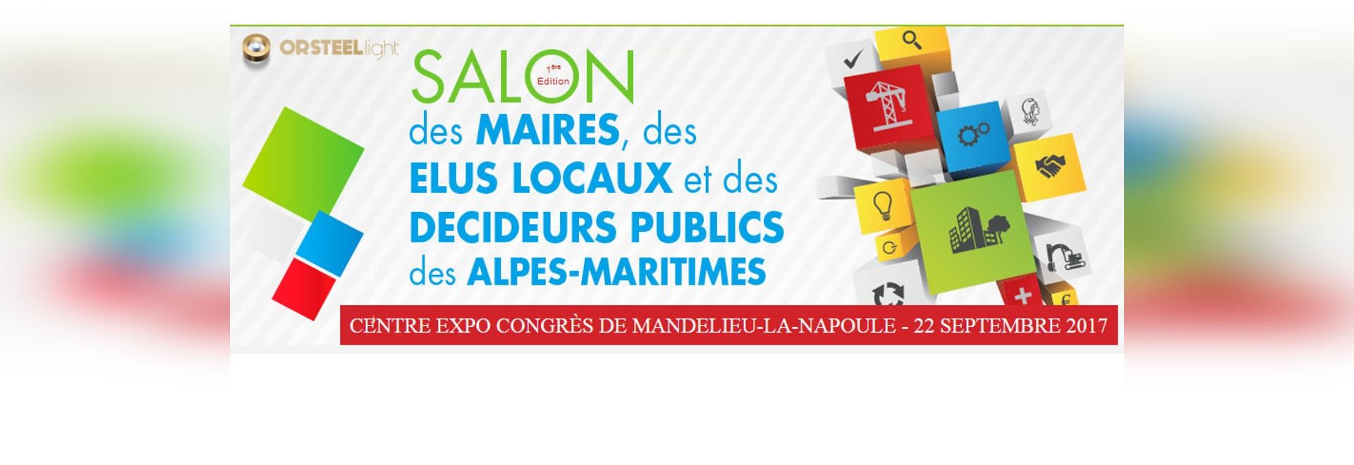 Participation au salon des Maires des Alpes-Maritimes ! [22 Septembre 2017 à Mandelieu]