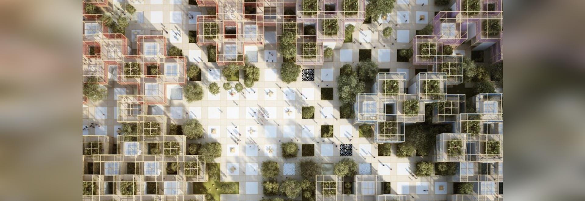Penda dévoile le «village» rempli de nature provisoire pour l'expo horticole de Pékin