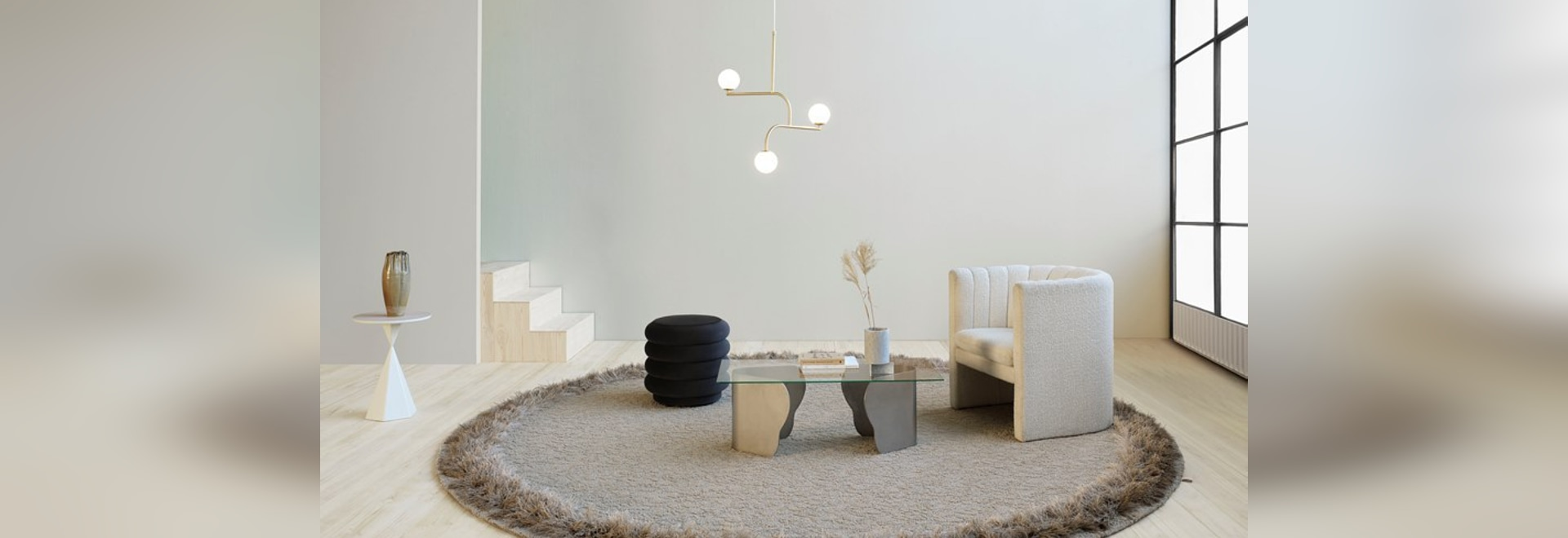 La plume par le studio de conception de Kasthall a une frange espiègle inspirée par les années 70