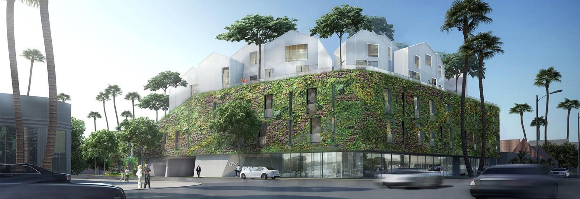 Le premier projet des USA des architectes FOUS, un village résidentiel de sommet, complète à Beverly Hills