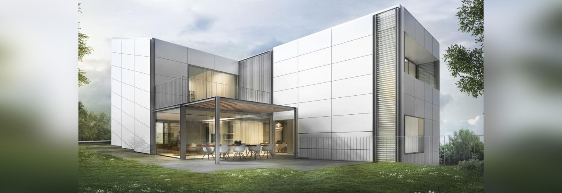 Projets des maisons isolées avec les façades aérées