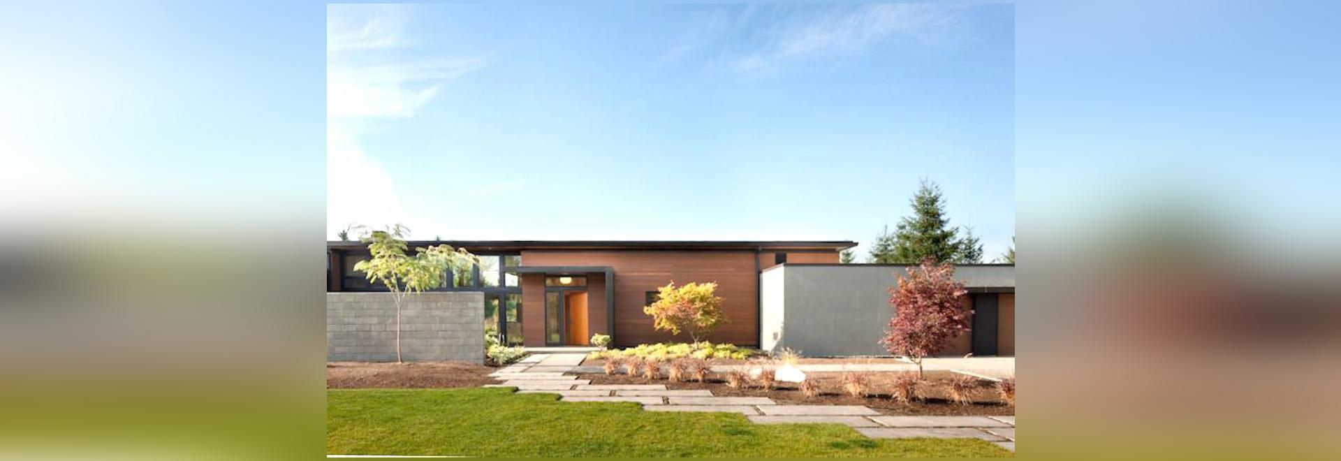 La résidence passivement refroidie d\'Olympia est une maison moderne ...