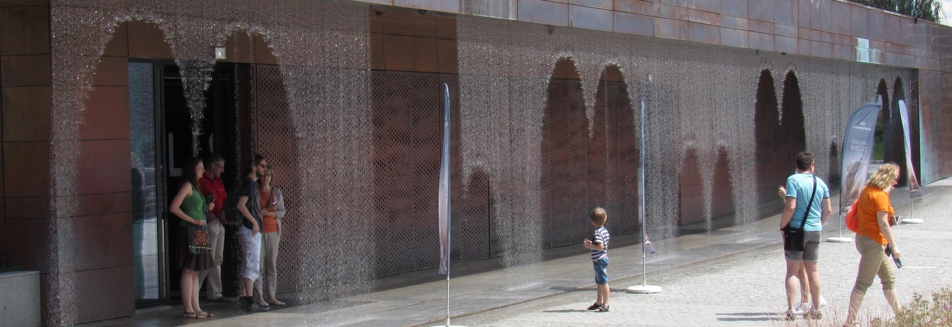Le rideau en eau de Digital aime le musée de Hydropolis