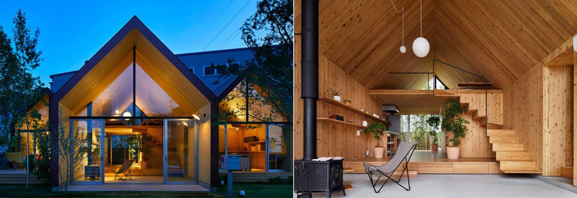 le studio d'architectes du mont Fuji emploie le bois de CLT pour le logement préfabriqué au Japon
