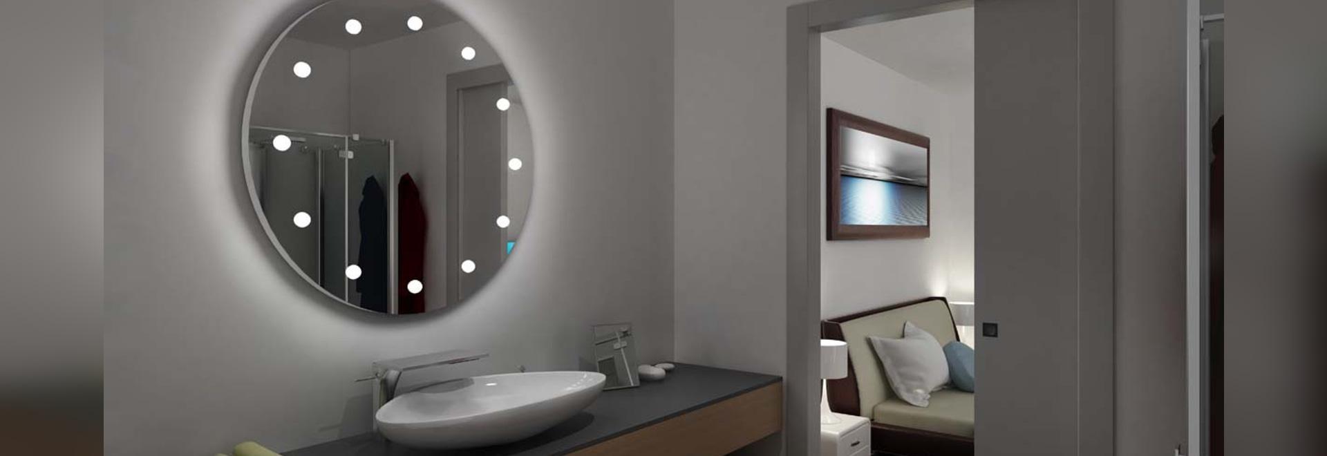 Unica  rond miroir lumineux  pour salle de bain