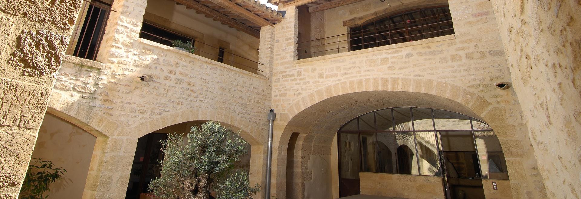 Vue générale des murs extérieurs