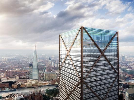 Les architectes de parade d'Eric dévoile la tour la plus grande dans la ville de Londres