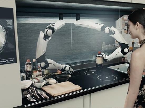 le chef robotique de moley travaillerait derrière le verre