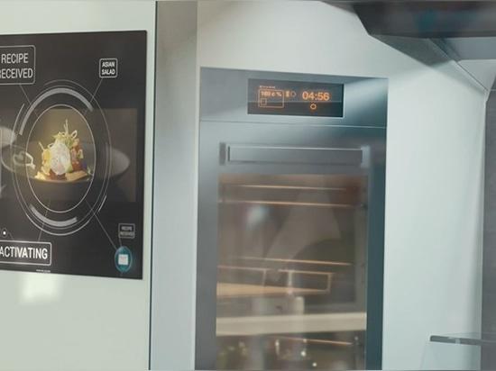 l'écran tactile offre une bibliothèque de différentes recettes