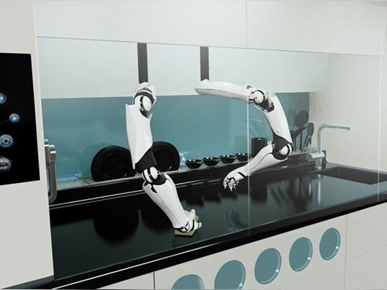 la cuisson une fois de finition, les bras robotiques nettoierait aussi bien