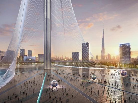 La tour d'observation de Dubaï de Calatrava ressemble aux jardins accrochants de Babylone