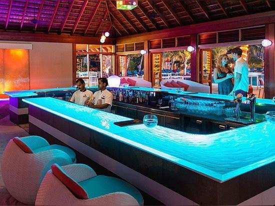 Bar En Verre ThinkGlass au Meeru Island Resorts & Spa