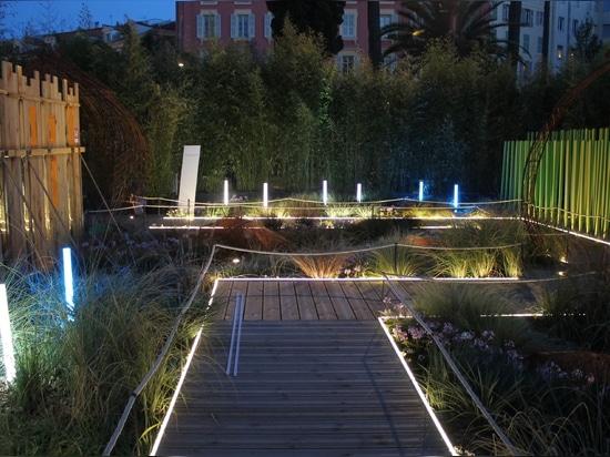 Mise en lumière du Festival des Jardins de la Côte d'Azur par Orsteel Light