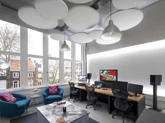 Radeaux circulaires acoustiques de plafond de classe