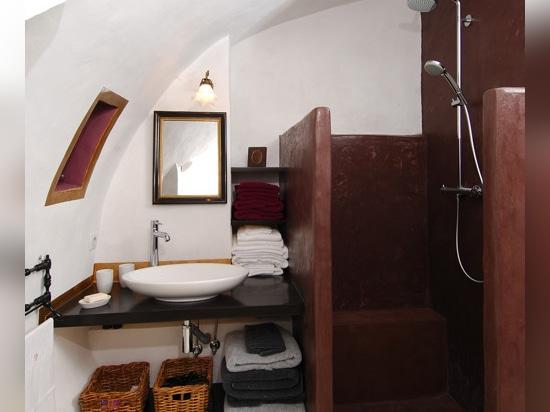 Douche de micro-ciment de Bourgogne