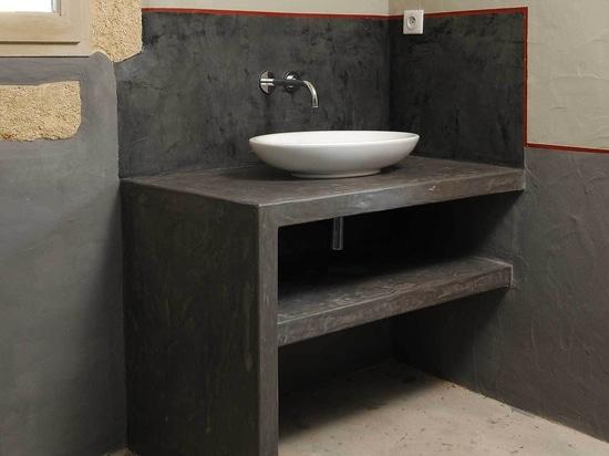 les lavabos de Micro-ciment complètent