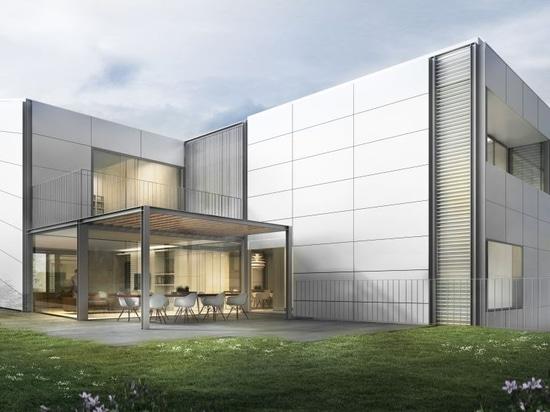 La symbiose des façades aérées avec un mur fermant technique