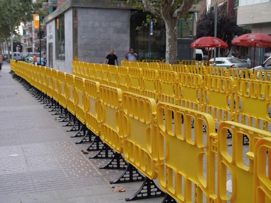Barrières en plastique de contrôle des foules