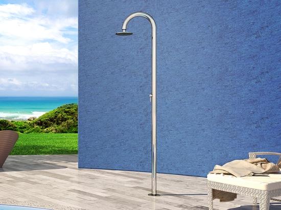 Semelle 60 M Beauty - douche extérieure nautique d'Inoxstyle d'acier inoxydable pour la piscine et le jardin