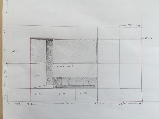 Modèle pour le secteur de la cheminée/TV.