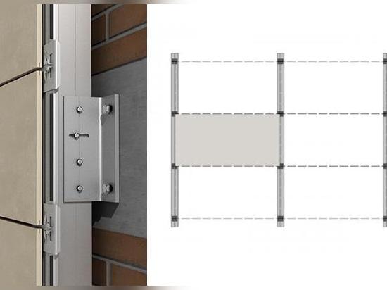 Système de support des façades